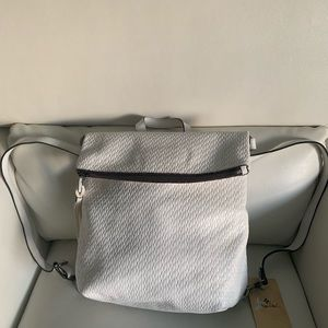 Patricia Nash Luzille Twisted Woven Backpack White
